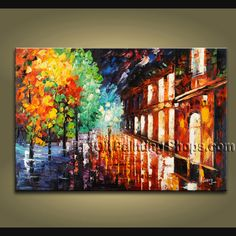 hand painted art paintings on canvas. It is very nicely done oil painting Landscape in Palette Knife style. This painting is painted with great skill, masterful brush strokes by our talented artist. Modern Oil Painting, Modern Art Paintings, Hand Painting Art, Landscape Paintings, Abstract Paintings, Large Wall Art, Canvas Wall Art, Night Scenery, Contemporary Wall Art