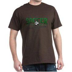 Cafepress Personalized Soccer Dark T-Shirt, Men's, Size: 3XLarge (+$3.00), Brown