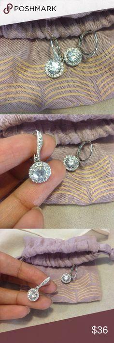 Nadri Drop Earrings Cubic zirconia /glass  Would look beautiful with and elegant dress! Nadri Jewelry Earrings