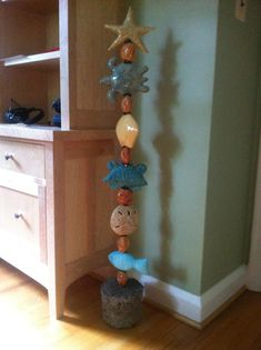Custom totem with stand by ClayByLaura
