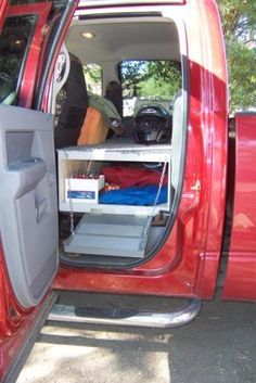 dog deck and storage for the truck - Might be useful just to increase access to stuff in the back of the truck.