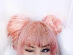Peach hair.