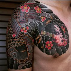 Artist / @haewall #japanesetattoo #japanesetattoos #cherryblossomtattoo #cherryblossom #orientaltattoo #irezumi #irezumicollective #tattoo #tattoos #tattoosleeve #tattooist #tattooing #tattooartist #tattooart #tattooflash #tatt #tatted #tattedup #ink #inked #inkedup #inkstagram #tebori #wabori #horimono #koifishtattoo #koi #namakubi #art #artist