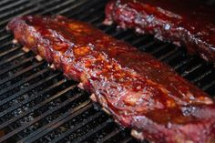 Traeger's famous Ribs recipe is so easy and super simple to make. Start by smoking your ribs for 3 hours, then cook inside foil for 2 hours and finish by removing from foil and brushing on sauce for up to an hour. Pellet Grill Recipes, Smoker Recipes, Rib Recipes, Candy Recipes, Grilling Recipes, Bbq Baby Back Ribs, Wood Fired Oven, Outdoor Cooking, Pork