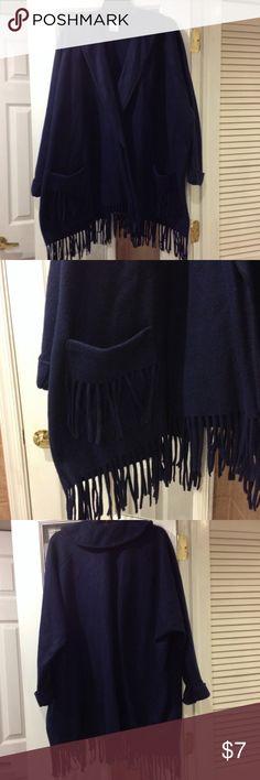 Medium/Large shawl coat new without tags Medium/Large shawl coat new without tags has 2 pockets in front Avon Jackets & Coats