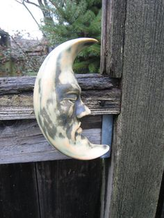 Gorgeous Crescent Moon Face Wall Sculpture for by SmillieCeramics, $22.00
