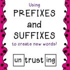 Prefix and suffix practice!  Students use common prefixes and suffixes to build different words using the same root word.  This activity gives stud...
