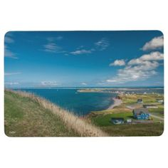 Carpet photo small village on the edge of the sea floor mat - home gifts ideas decor special unique custom individual customized individualized