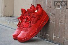 DANK CUSTOMS AIR JORDAN 4 (LOUIS VUITTON) | Sneaker Freaker