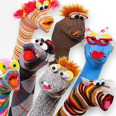 It would be fun to try to make something like this with the kids. #Sockpuppets