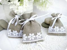 Items similar to Set of 50 -Natural Rustic Linen Wedding Favor Bag or Candy Buffet Bag or Gift Bag on Etsy Lavender Crafts, Lavender Bags, Bible Crafts For Kids, Diy For Kids, Wedding Favor Bags, Wedding Gifts, Candy Buffet Bags, Easter Gift Bags, Colored Burlap