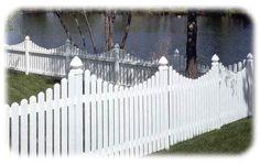 vinyl white fencing   Vinyl Fencing - White Vinyl - Deck and Rail - Yard Fence - Gardens ...