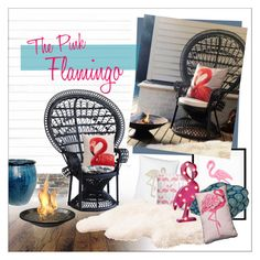 The Pink Flamingo by szaboesz on Polyvore featuring interior, interiors, interior design, home, home decor, interior decorating, The Outdoor GreatRoom Company, Terrasol, Eleanor Stuart and WALL