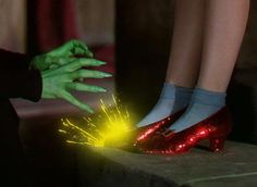 """GIVE ME THOSE RUBY SLIPPERS!""  LOL"