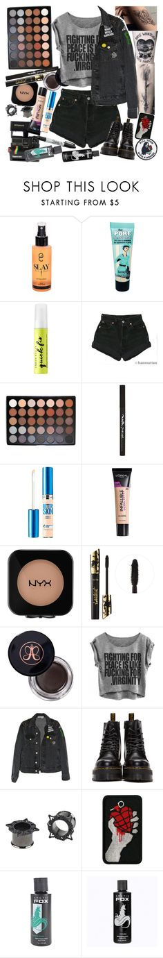 """DRINKS DON'T COME FOR FREE, THE PRICE YOU PAY FOR DREAMS. IN A SEA OF STRANGERS, I CAN'T FIND ME ANYMORE"" by thelyricsmatter ❤ liked on Polyvore featuring Gerard Cosmetics, Benefit, Urban Decay, Polaroid, Levi's, Morphe, Maybelline, L'Oréal Paris, NYX and tarte"