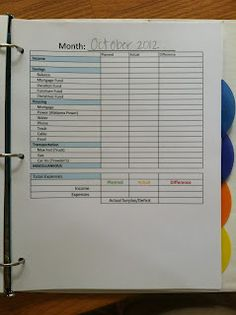 PS: this family planner has it all. cleaning list, menu planning, monthly budgeting (according to Dave Ramsey) and a checkbook register. It helps me run my family like a CFO Financial Organization, Bill Organization, Organizing, Budgeting Tools, Budgeting Finances, Home Management Binder, Money Management, Family Planner, Financial Planning