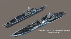TDN 'Wreathe' class Air-Defense Cruiser by on DeviantArt Futuristic Armour, Futuristic Cars, Military Gear, Military Weapons, Sci Fi Ships, Concept Ships, Army Vehicles, Weapon Concept Art, Boat Design