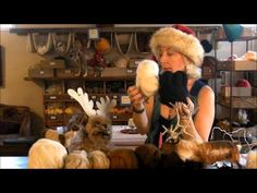 How to Needle Felt a Reindeer: Sarafina Fiber Art Felting Eweniversity - YouTube