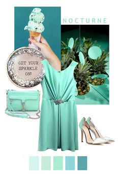 all the MINT! Mint dress is NOCTURNE! #NOCTURNE #dress #mint #color #colorchart #design #clothes #friday #shoes #rebeccaminkoff #bag #style #stile