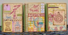 Clearsnap: 2nd Annual Handmade Holidays Blog Hop Giveaway: Trio of Altered Notebook by Tami Sanders