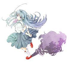 Anime ✮ Higurashi No Naku Koro Ni / When They Cry   Rika Furude & Hanyuu