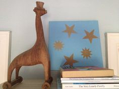 Wooden toy giraffe boys nursery