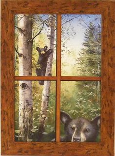 like the idea but would want to paint something  better in an old window