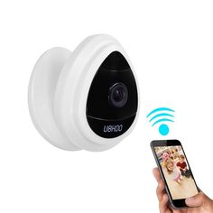 Mini IP Camera, UOKOO Home WiFi Security Surveillance Camera System with Motion Email Alert White