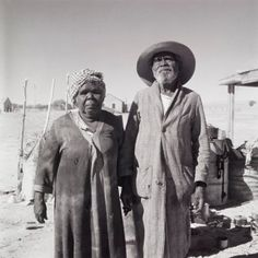 Aboriginal couple, Finniss Springs Mission, South Australia, 1959 (printed 2000) by David Moore