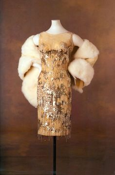 Nude souffle dress covered with silver sequins and crystal beads by Orry-Kelly. Marilyn wore this dress in Some LIke It Hot, 1959.