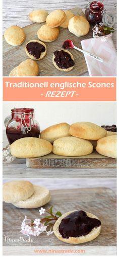 Auf www.ninastrada.com findet Ihr ein tolles Rezept für traditionell englische scones mit selbstgemachtem Blaubeer Gelee. Das englische bzw. irische Gebäck ist einfach nach zu backen und darf bei keiner Tea Time fehlen.