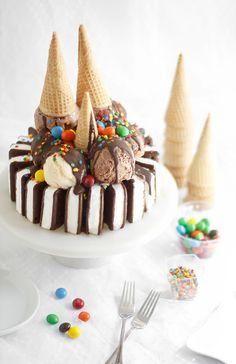 Easy Ice Cream Sandwiches Cake from @sprinklebakes