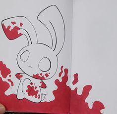 It's from Echo Gillette, so cute Creepy Drawings, Dark Art Drawings, Art Drawings Sketches, Cool Drawings, Cute Disney Drawings, Cute Animal Drawings, Pretty Art, Cute Art, Drawing Scenery