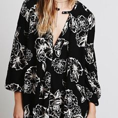 Free People Retro Floral Swing Dress