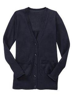 Long uniform cardigan | Gap