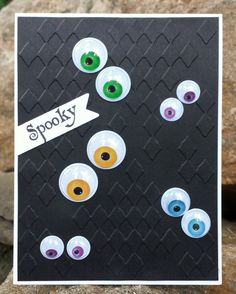 Hello! Today I have a CAS (Clean and Simple) card to share with you! I found this pack of googly eyes in different sizes and colors at on...