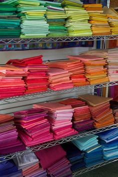 beautiful collection of hand-dyed fabrics