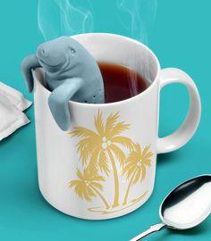 $12 ManaTea Infuser I love manatees and tea! I want this so bad!