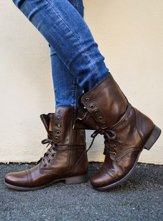 852724cf100e Brown leather steve madden troopa combat boots Pumas Shoes