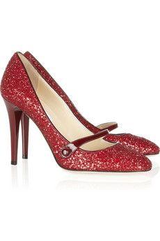 ruby glitter pumps | jimmy choo