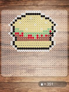Burger Nabbi beads pattern