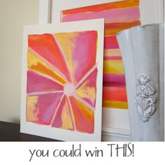 don't miss the kb files' very first GIVEAWAY today on the blog! you could win this pretty print!