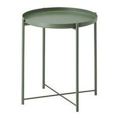 GLADOM Mesa/bandeja, verde oscuro - 45x53 cm - IKEA