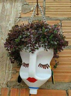inspiration for a Scarecrow head or jazz up for a display of head planters....Possibilities.......