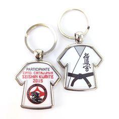 Llaveros personalizados para competición de karate kyokushin
