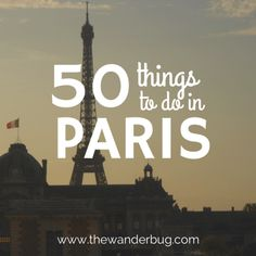 50 things to do in Paris