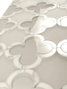 Madison / Manhattan Collection featured in natural stone & Venetian Glass by Mosaique Surface