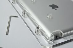 New iPad Acrylic Enclosure, using security screws.  www.posincloud.com Tablet Mount, New Ipad, Sink, Bathroom, Home Decor, Sink Tops, Washroom, Vessel Sink, Decoration Home
