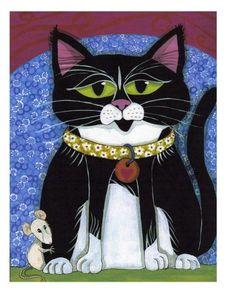 ♥CAT♥ 85 CURTIS & FRIEND (FURTHERMOREPRESS-CAT NOTE CARD)