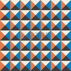 kleuren kubussen naadloze patroon achtergrond vintage retro Stockfoto - 19164633